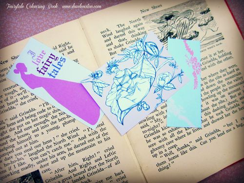 Fairy colour book bookmarks