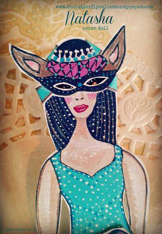 Natasha paper doll mask