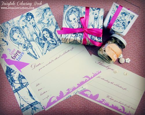 Fairy colour book wrap & invite