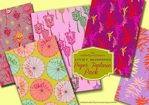 Lucky blossoms paper fantasia pack shae leviston