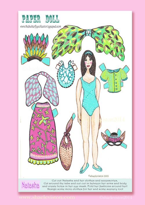 Nataha paper doll prom pink copy
