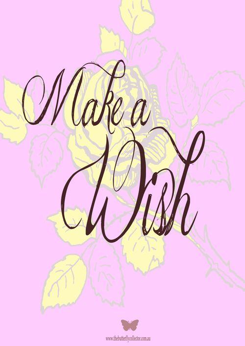 Make a wish A4 print copy