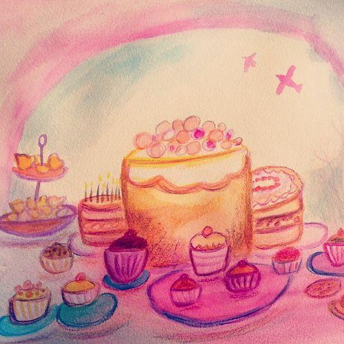 Cake steiner watercolour