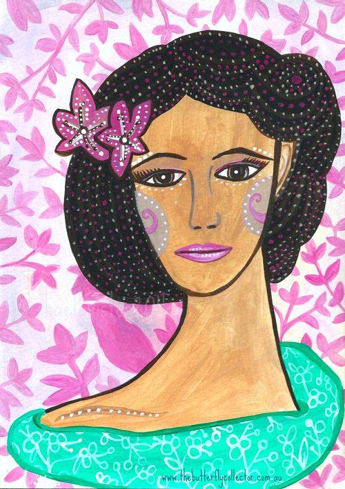 Flower in her hair wm