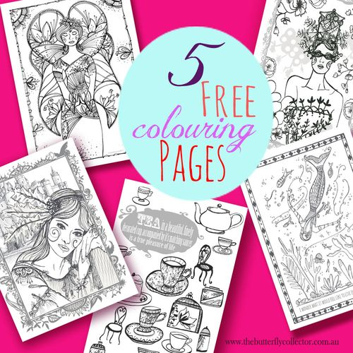 5 free colouring pages promo copy