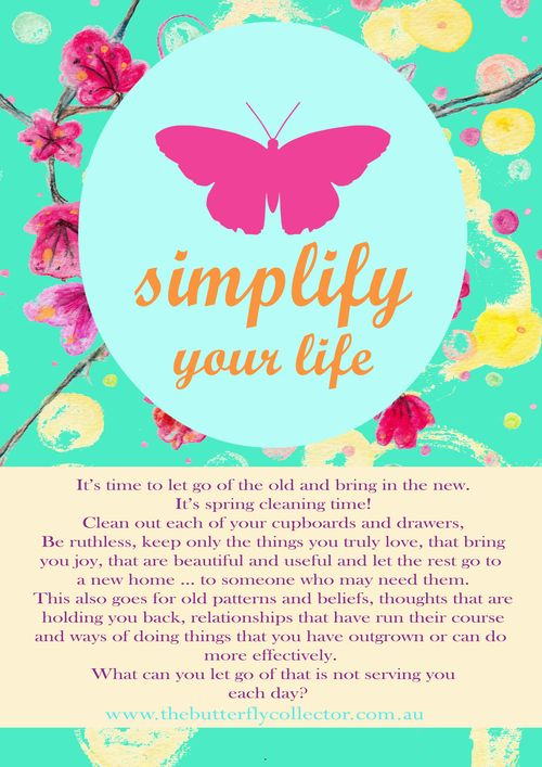 Butterfly word simplify your life copy